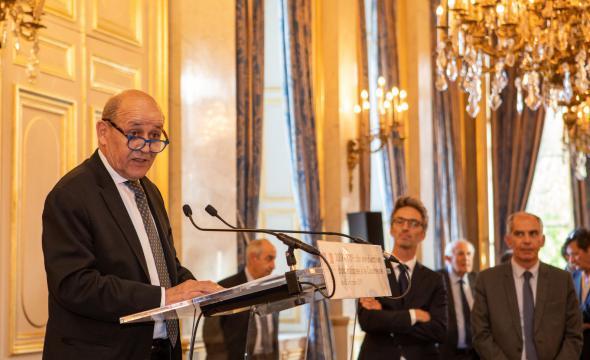 Jean-Yves Le Drian cite l'ouvrage du CTHS dans son discours du 3 octobre 2019