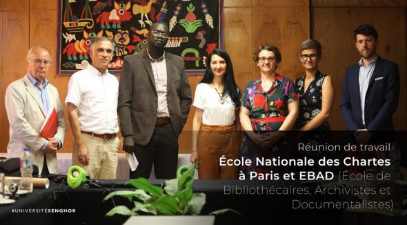 Rencontre entre l'École nationale des chartes, l'EBAD et l'Université Senghor à Alexandrie