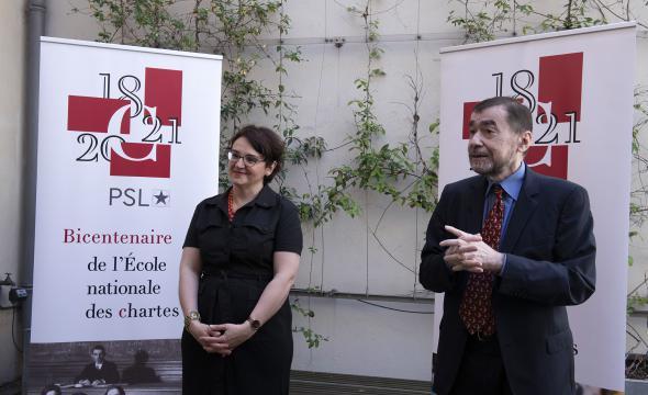Michelle Bubenicek, directrice de l'École, et Bertrand Joly, président du jury © ENC - cl. Didier Plowy