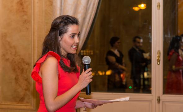 Discours de Marie Bolot, élève en 1re année, pour l'équipe d'organisation du bal