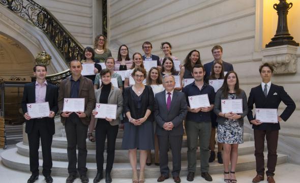 À la Sorbonne, cérémonie de remise des diplômes 2017 d'archiviste paléographe