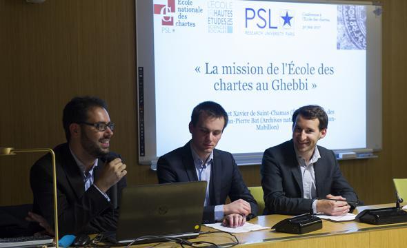 Jean-Pierre Bat (Archives nationales), Jean Hennet et Xavier de Saint-Chamas (prom. 2017)