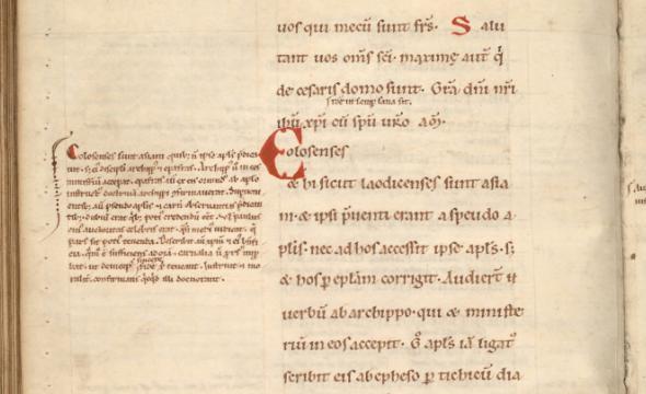 La Bible glosée, milieu du XIIe siècle (fac-similié)