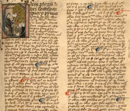 Le prologue du commentaire de Grégoire de Rimini sur les Sentences, XIVe siècle (fac-similé)