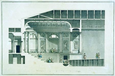 G. Quarenghi, Théâtre de l'Ermitage, 1784-85 (Musée de l'Ermitage, Saint-Pétersbourg)