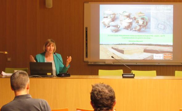 Conférence de Séverine Hurard aux 6e Journées nationales d'archéologie