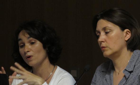 Hélène Dessales (ENS, AOROC) et Julie Carlut (CNRS, IPGP)