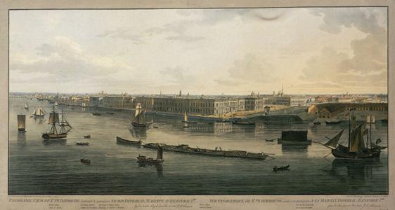 J.A. Atkinson, Panorama de Saint-Pétersbourg, 1805-1807 (Musée de l'Ermitage, Saint-Pétersbourg)