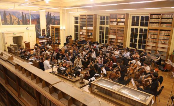 Répétition de l'orchestre de PSL