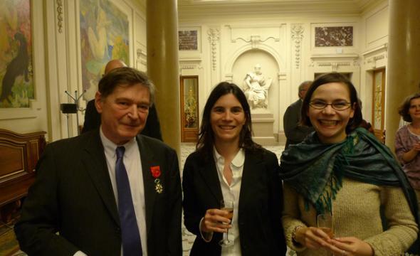 Remise des insignes d'officier de la Légion d'honneur à Jean-Michel Leniaud