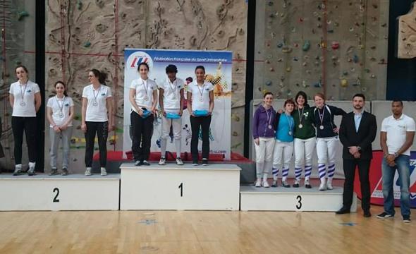 Les équipes sur le podium
