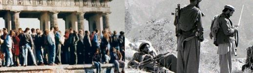 Occupation de la porte de Brandebourg (1989) / Combattants moudjahidines dans la province afghane de Kounar (1987)