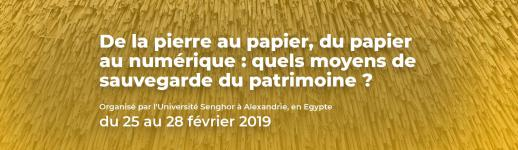 Affiche du colloque «De la pierre au papier, du papier au numérique»