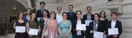 À la Sorbonne, cérémonie de remise des diplômes 2018 d'archiviste paléographe