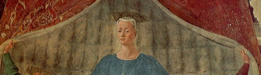 Madonna del Parto, fresque de Piero della Francesca, (vers 1455), musée de Monterchi