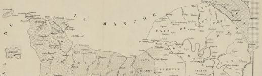 Carte des patois normands, Paris: imp. de Regnier, [1884] @ gallica.bnf.fr