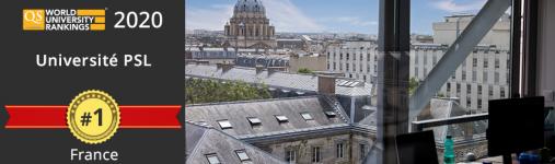 L'Université PSL est classée 1ʳᵉ université française au QS World University Rankings 2020