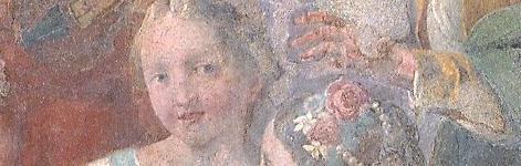 Trompe-l'oeil «Le putte curiose» (salle de musique de l'Ospedaletto, Venise)