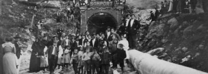 Fête d'inauguration du tunnel du Somport, frontière franco-espagnole, le 13 octobre 1912