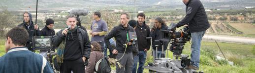 Tournage du film Rabin, the Last Day (2015), du cinéaste Amos Gitaï