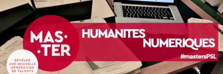 Postulez au master «Humanités numériques»