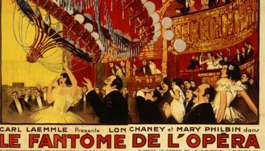 Affiche pour <em>Le Fantôme de l'Opéra</em>, film de R. Julian Vaillant, affichiste,1925
