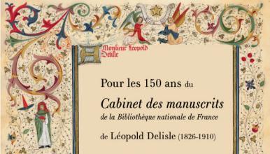 Affiche «Les 150 ans du Cabinet des manuscrits de la Bibliothèque nationale»
