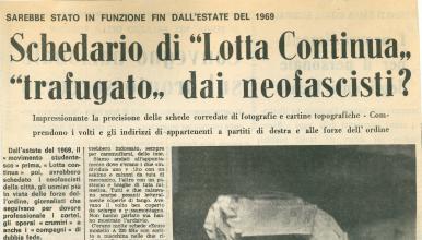 Article paru dans le journal <em>Alto Adige</em> le 1<sup>er</sup> décembre 1971