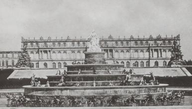 Vue du château de Herrenchiemsee, vers 1886. Munich, Joseph Albert