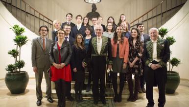 Les diplômés 2017 sous la coupole de l'Institut de France