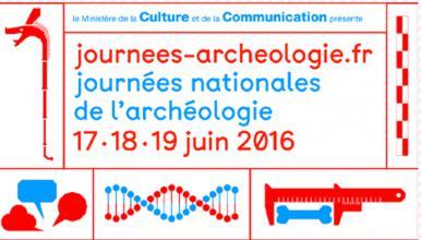Logo des Journées nationales de l'archéologie 2016