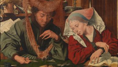 Der Geldwechsler und seine Frau, Marinus van Reymerswaele (1539), Museo del Prado, Madrid