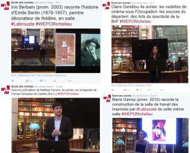Live tweets exercices d'érudition des chartes aux journées portes ouvertes de Richelieu