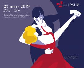 Affiche du bal 2019 de l'École des chartes